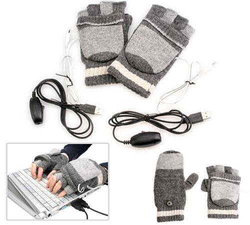 Luvas aquecidas por USB