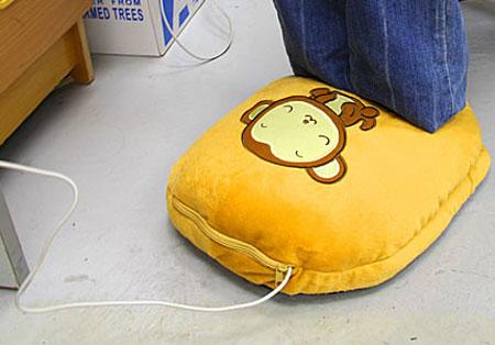 Pantufas aquecidas USB